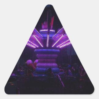 Carnival Ride at Night Triangle Sticker