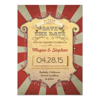 carnival save the date cards 11 cm x 16 cm invitation card