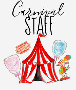 Carnival Staff Shirt Circus Birthday Party
