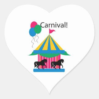 Carnival! Heart Sticker