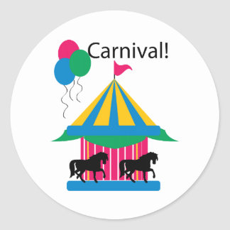 Carnival Round Sticker