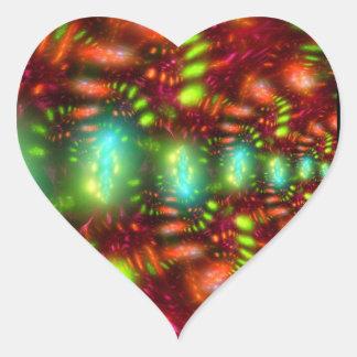 Carnival Heart Sticker