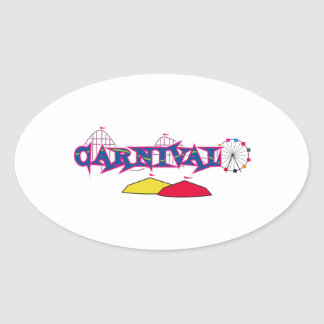 CARNIVAL OVAL STICKERS