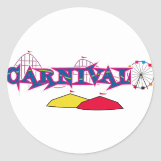 CARNIVAL ROUND STICKERS