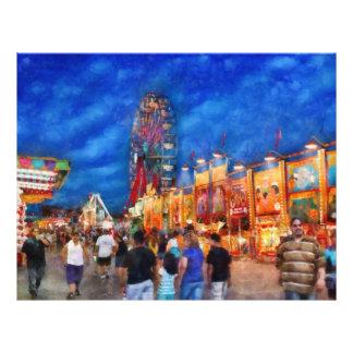 Carnival - The carnival at night 21.5 Cm X 28 Cm Flyer