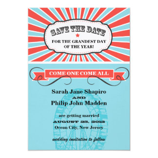 Carnival Themed Wedding Save the Date Card