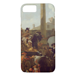 Carnival Time in Rome, 1653 (oil on canvas) iPhone 8/7 Case