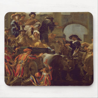 Carnival Time in Rome, 1653 (oil on canvas) Mouse Mat