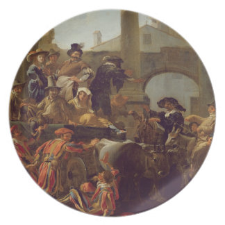 Carnival Time in Rome, 1653 (oil on canvas) Plates