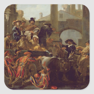 Carnival Time in Rome, 1653 (oil on canvas) Sticker