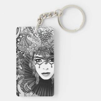 Carnival woman keychain