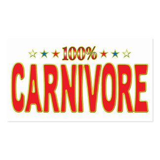 Carnivore Star Tag Pack Of Standard Business Cards
