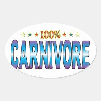 Carnivore Star Tag v2 Oval Sticker