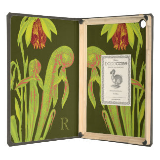 Carnivorous California Cobra Plant Monogram iPad Air Cover