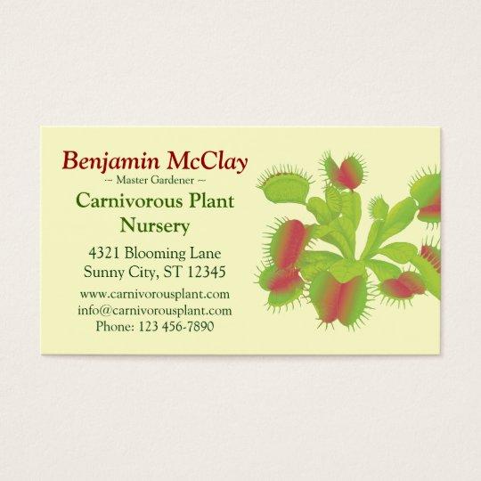 Carnivorous Plants Business Card