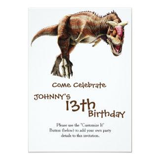 Carnotaurus Gift Awesome Carnivorous Dinosaur 13 Cm X 18 Cm Invitation Card