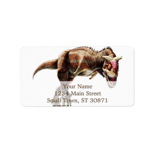 Carnotaurus Gift Awesome Carnivorous Dinosaur Address Label