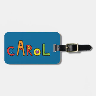 """Carol"" Monster Letters Luggage Tag"