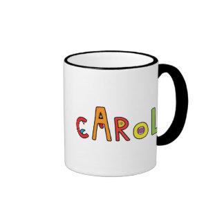 """""""Carol"""" Monster Letters Ringer Mug"""