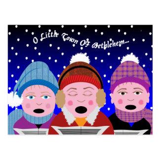 Carol Singers Christmas Post Cards