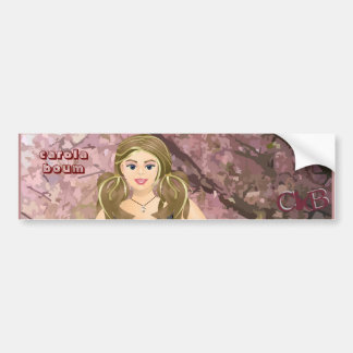 Carola in the Cherry trees Bumper Sticker