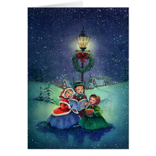 CAROLERS by SHARON SHARPE Card