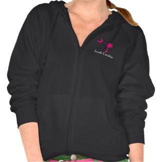 'Carolina Girl' Zip Hoodie (Pink Logo)