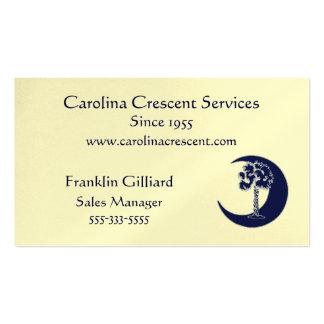 Carolina Palmetto Crescent Logo Business Card