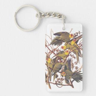 Carolina Parakeet Acrylic Keychain