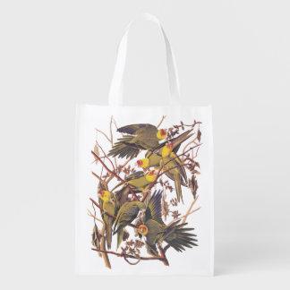 Carolina Parakeet Reusable Grocery Bag