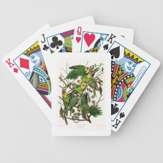 Carolina Parrot John Audubon Birds of Ameria Bicycle Playing Cards