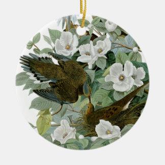 Carolina Pigeon John James Audubon Birds Round Ceramic Decoration