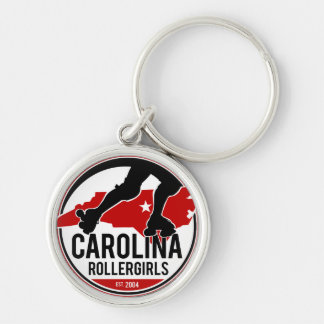 Carolina Rollergirls keychain