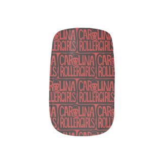 Carolina Rollergirls nail wraps