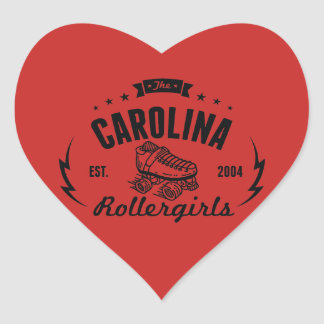 Carolina Rollergirls stickers
