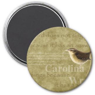 Carolina Wren 7.5 Cm Round Magnet