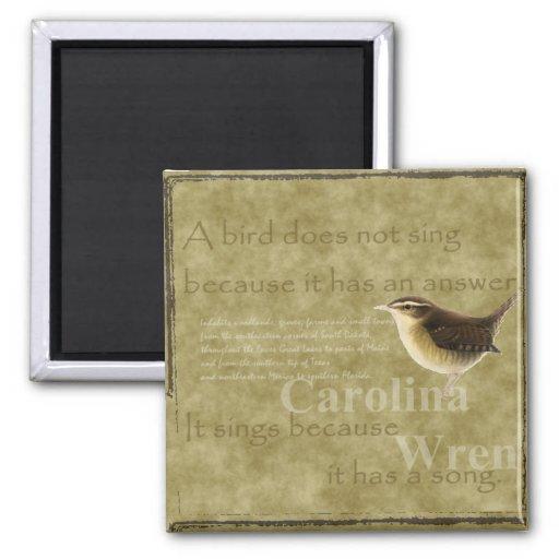 Carolina Wren Fridge Magnet