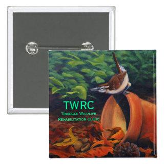 Carolina Wren, Triangle Wildlife Rehabilitation... 15 Cm Square Badge