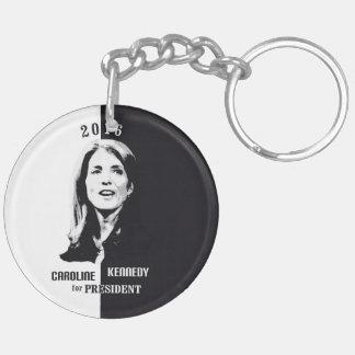 Caroline Kennedy for President 2016 Double-Sided Round Acrylic Key Ring