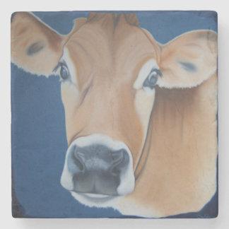 'Caroline's Cow' Stone Beverage Coaster