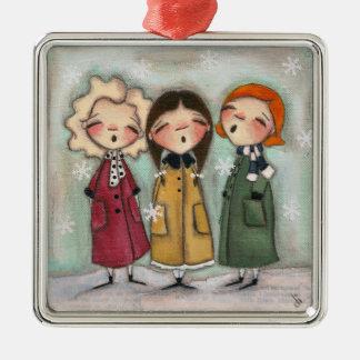 Caroling, Caroling - Premium Square Ornament