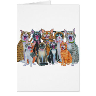 Caroling Cats Greeting Card