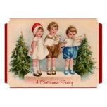 Caroling Kids Christmas Party Invitation