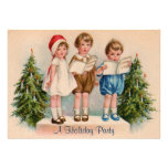 Caroling Kids Holiday Party Invitation