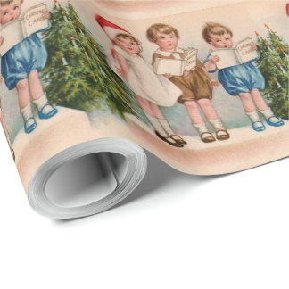 Caroling Kids Merry Christmas Wrapping Paper