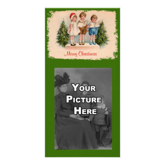 Caroling Kids Photo Card