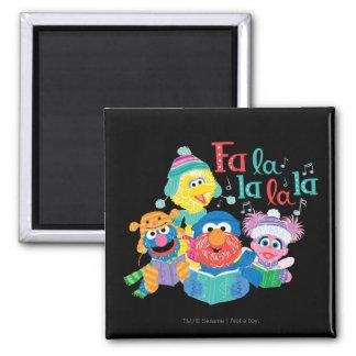 Caroling Sesame Street Square Magnet