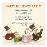 Caroling Snowmen Holiday Party Invitations