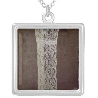 Carolingian Pillar, c.758 Silver Plated Necklace