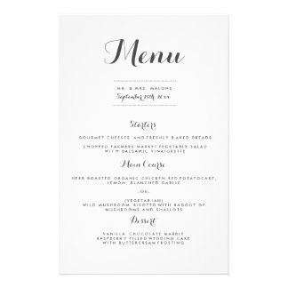 Carolyna Wedding Dinner Menu 14 Cm X 21.5 Cm Flyer
